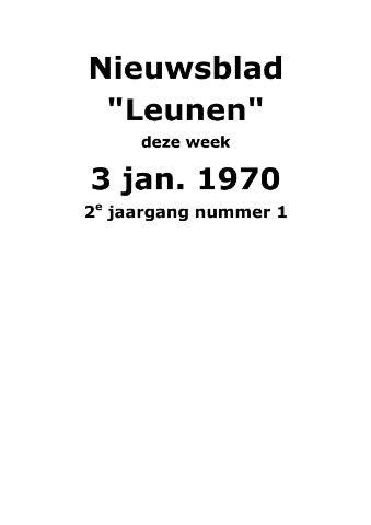 Dorpsblad Leunen-Veulen-Heide 1970