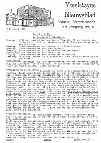 Ysselsteyns Nieuwsblad 1973-02-02