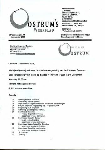 Oostrum's Weekblad 2006-11-09