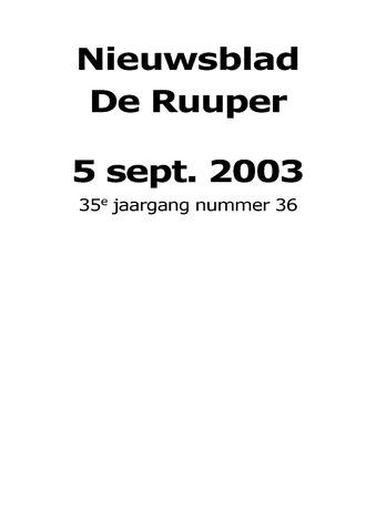 Dorpsblad Leunen-Veulen-Heide 2003-09-05