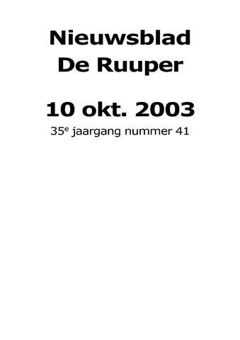 Dorpsblad Leunen-Veulen-Heide 2003-10-10