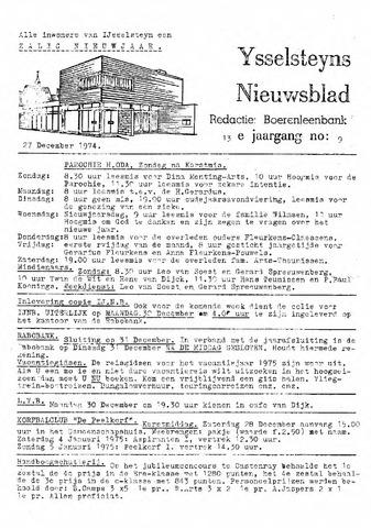 Ysselsteyns Nieuwsblad 1974-12-27