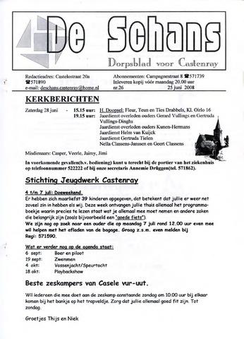 Castenrays dorpsblad De Schans 2008-06-25