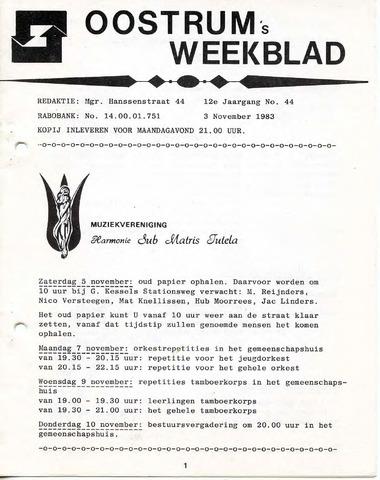 Oostrum's Weekblad 1983-11-03