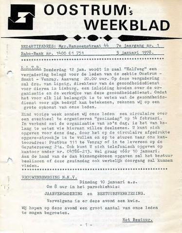 Oostrum's Weekblad 1978