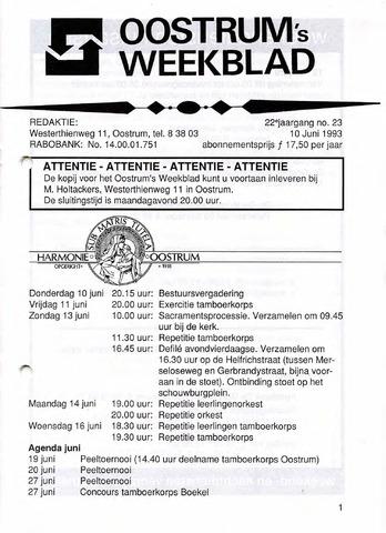 Oostrum's Weekblad 1993-06-10
