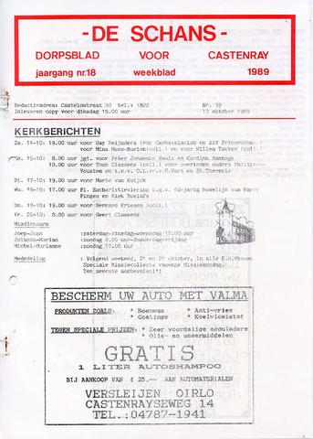 Castenrays dorpsblad De Schans 1989-10-13