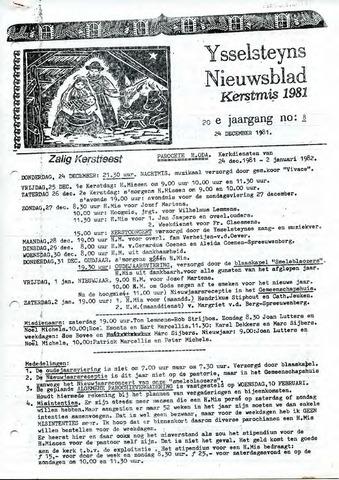 Ysselsteyns Nieuwsblad 1981-12-24