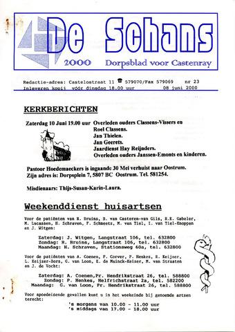 Castenrays dorpsblad De Schans 2000-06-08