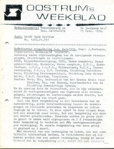Oostrum's Weekblad 1974-02-15