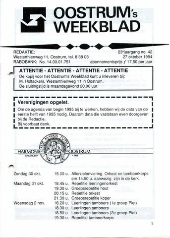 Oostrum's Weekblad 1994-10-27