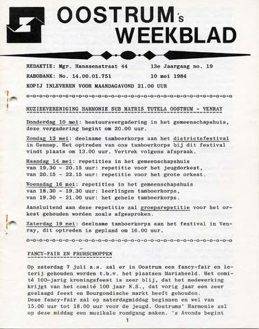 Oostrum's Weekblad 1984-05-10