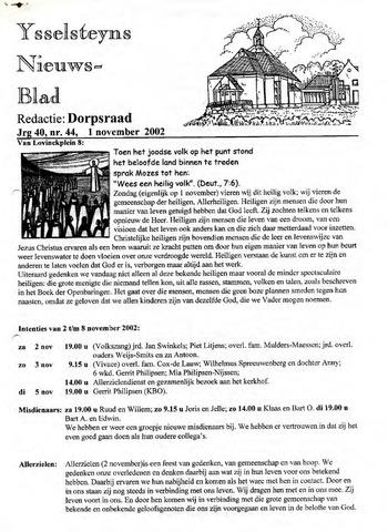 Ysselsteyns Nieuwsblad 2002-11-01
