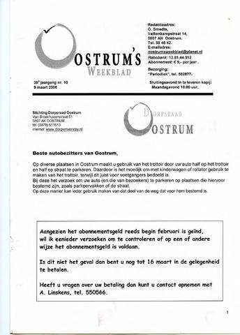 Oostrum's Weekblad 2006-03-09
