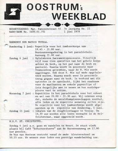 Oostrum's Weekblad 1978-06-01