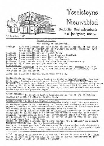 Ysselsteyns Nieuwsblad 1973-10-12