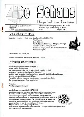 Castenrays dorpsblad De Schans 2007-06-13