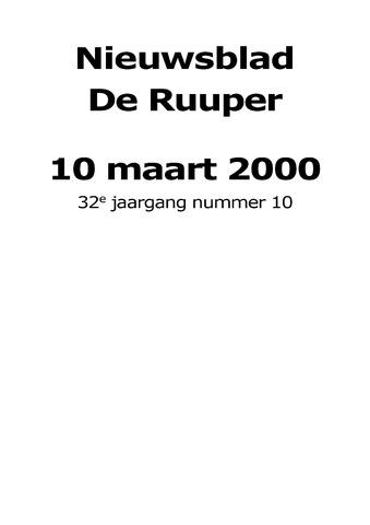 Dorpsblad Leunen-Veulen-Heide 2000-03-10