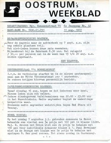Oostrum's Weekblad 1977-08-11
