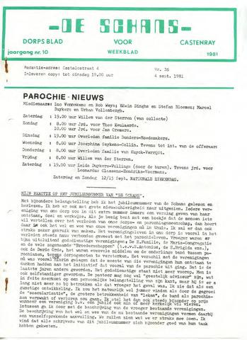 Castenrays dorpsblad De Schans 1981-09-04