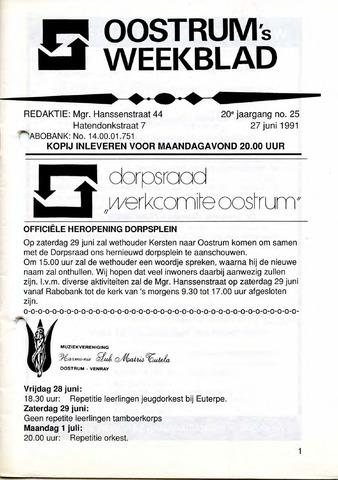 Oostrum's Weekblad 1991-06-27