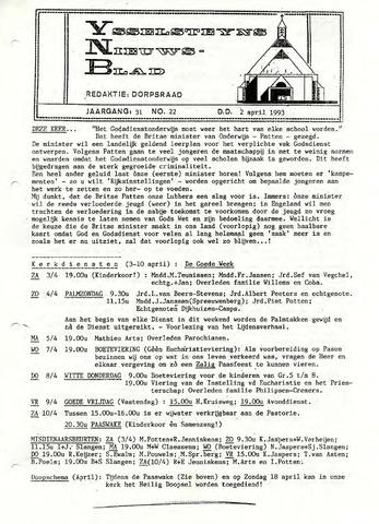Ysselsteyns Nieuwsblad 1993-04-02