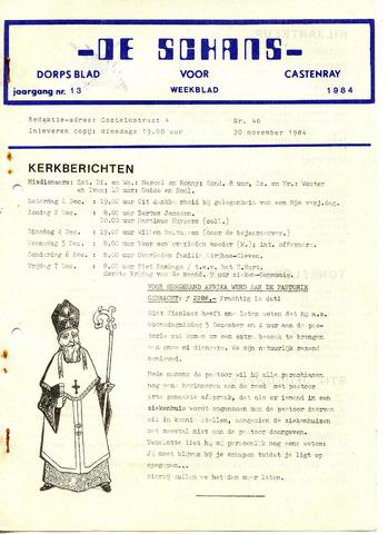 Castenrays dorpsblad De Schans 1984-11-30