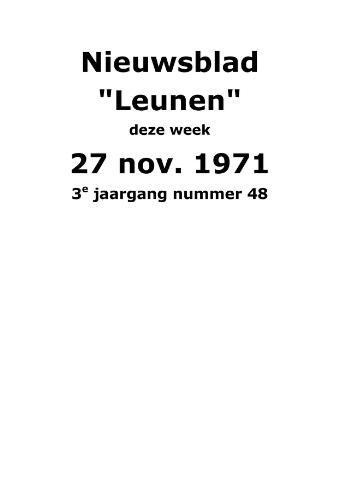 Dorpsblad Leunen-Veulen-Heide 1971-11-27