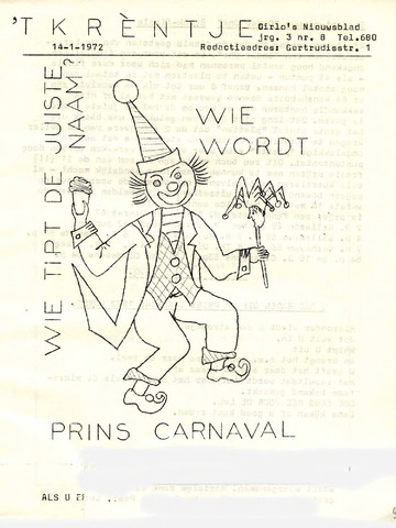 Oirlo's dorpsblad 't Krèntje 1972-01-14