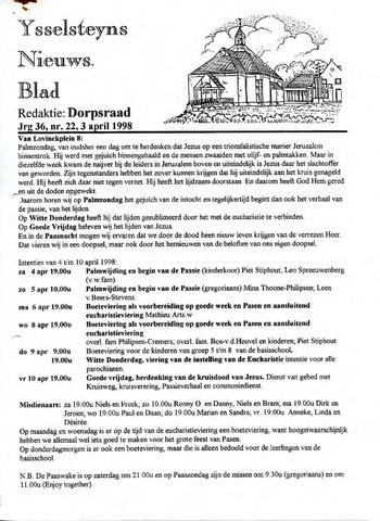 Ysselsteyns Nieuwsblad 1998-04-03