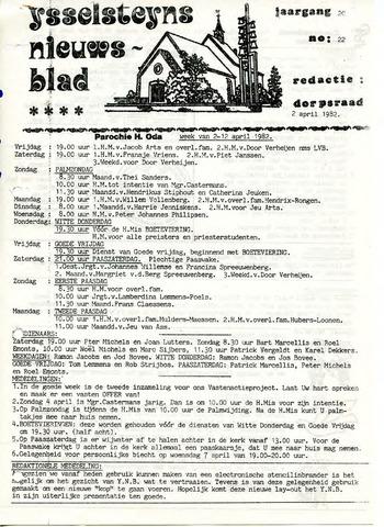 Ysselsteyns Nieuwsblad 1982-04-02