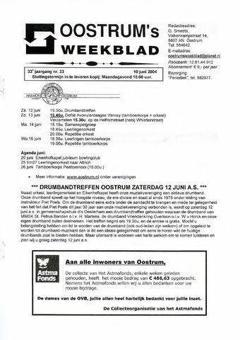 Oostrum's Weekblad 2004-06-10
