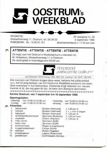 Oostrum's Weekblad 1996-09-05