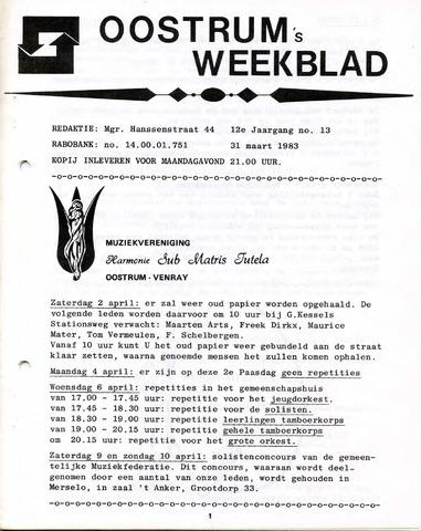 Oostrum's Weekblad 1983-03-31
