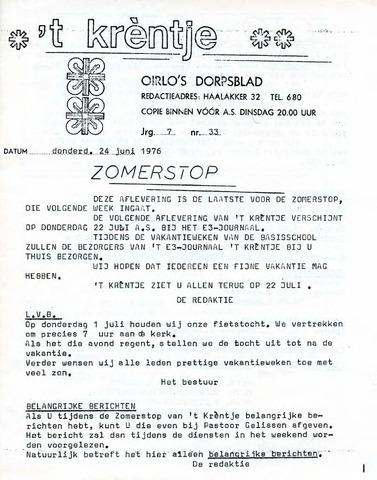 Oirlo's dorpsblad 't Krèntje 1976-06-24