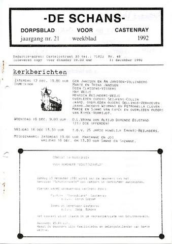 Castenrays dorpsblad De Schans 1992-12-11