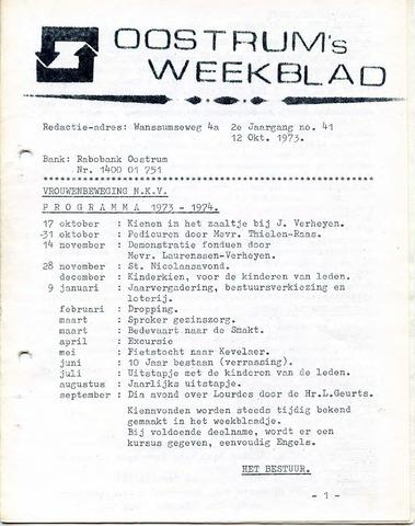 Oostrum's Weekblad 1973-10-12