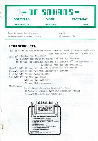 Castenrays dorpsblad De Schans 1986-11-28