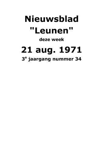 Dorpsblad Leunen-Veulen-Heide 1971-08-21
