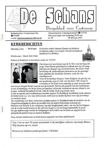 Castenrays dorpsblad De Schans 2007-02-24