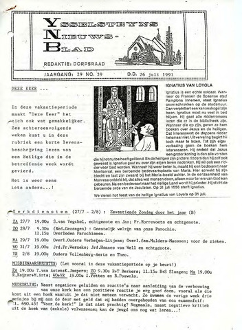 Ysselsteyns Nieuwsblad 1991-07-26
