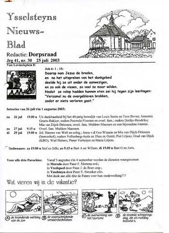 Ysselsteyns Nieuwsblad 2003-07-25