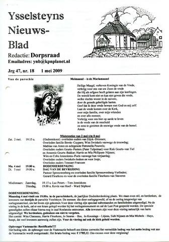 Ysselsteyns Nieuwsblad 2009-05-01