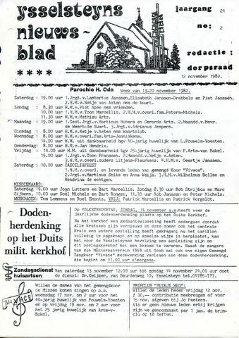 Ysselsteyns Nieuwsblad 1982-11-12