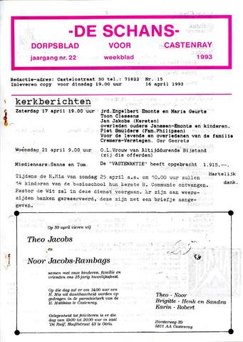 Castenrays dorpsblad De Schans 1993-04-16