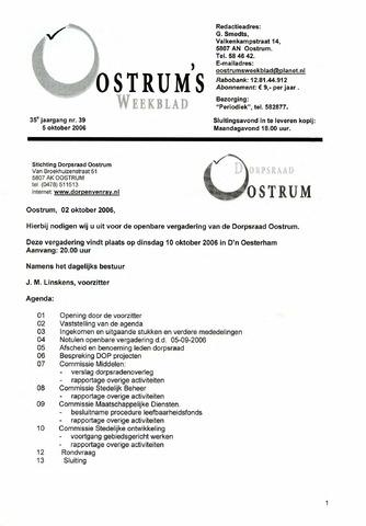 Oostrum's Weekblad 2006-10-05