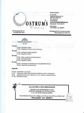 Oostrum's Weekblad 2010-09-16