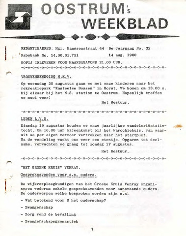 Oostrum's Weekblad 1980-08-14