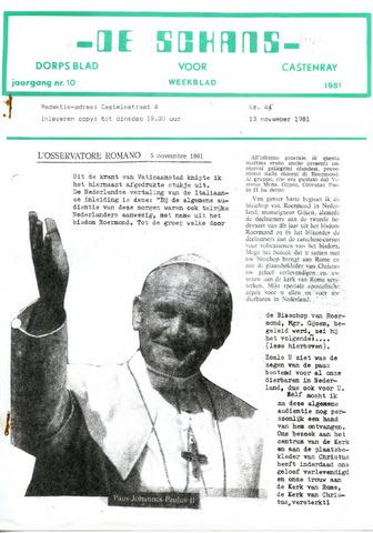 Castenrays dorpsblad De Schans 1981-11-13