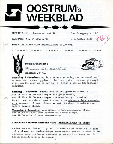 Oostrum's Weekblad 1987-12-03